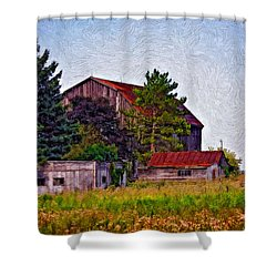August Afternoon Impasto Shower Curtain by Steve Harrington