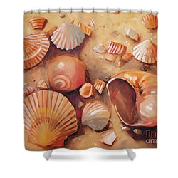 August Shells Shower Curtain