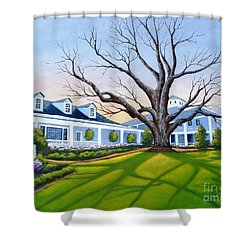 Augusta National Clubhouse Shower Curtain