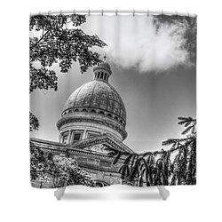 Augustana Shower Curtain by Ray Congrove