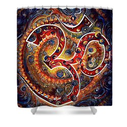 AUM Shower Curtain by Harsh Malik