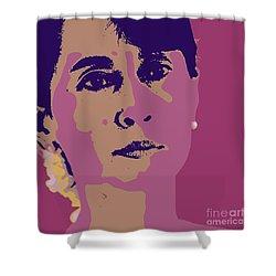Aung San Suu Kyi Shower Curtain by Jean luc Comperat