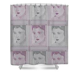 Aunt Edie Print Shower Curtain