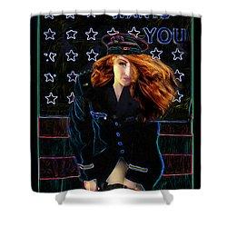 Aunt Sam Shower Curtain