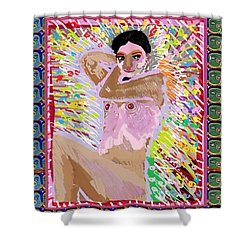 Aura Art Effect Of Love In Heart Showering Sparkle Colors Navin Joshi Rights Managed Images Graphic  Shower Curtain