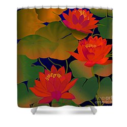 Aura Shower Curtain by Latha Gokuldas Panicker