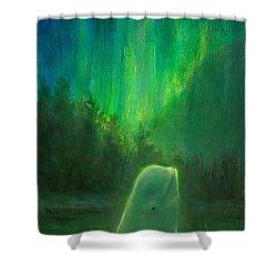 Aurora Beluga Shower Curtain