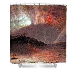 Aurora Borealis By Frederick Edwin Church Shower Curtain