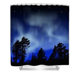 Aurora Borealis Wall Mural Shower Curtain