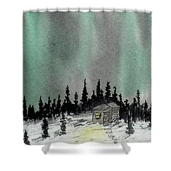 Aurora Magic - Dance Of The Lights Shower Curtain by R Kyllo