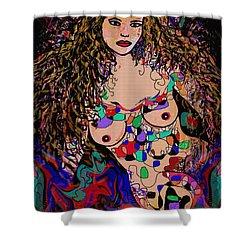 Aurora Shower Curtain by Natalie Holland