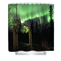 Auroral Arch Shower Curtain