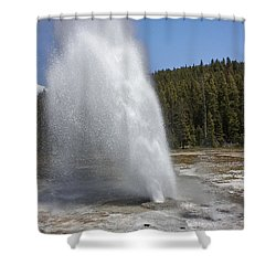 Aurum Geyser Eruption Shower Curtain