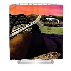 Austin 360 Bridge Shower Curtain by Marilyn Hunt