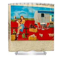 Austin - Camping Mural Shower Curtain