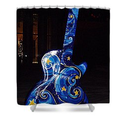 Austin City Limits Shower Curtain by John Telfer