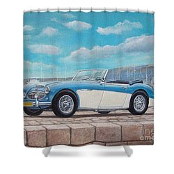 Austin Healey Bj8 Mark IIi Shower Curtain