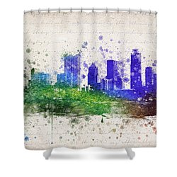 Austin In Color Shower Curtain by Aged Pixel
