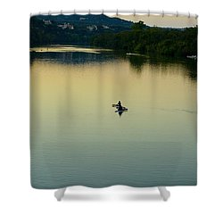 Austin Lady Bird Lake Shower Curtain