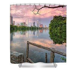 Austin Skyline From Lou Neff Point Shower Curtain