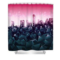Austin Skyline Geometry 2 Shower Curtain