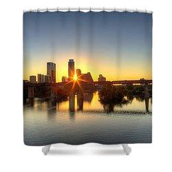 Austin Sunrise Shower Curtain by Dave Files