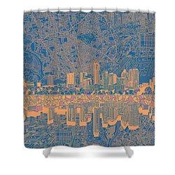 Austin Texas Skyline 2 Shower Curtain