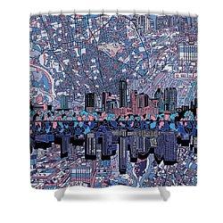 Austin Texas Skyline 3 Shower Curtain