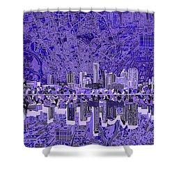 Austin Texas Skyline 4 Shower Curtain