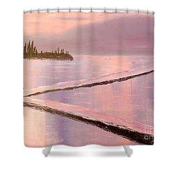 Austinmer Pool At Sunset Shower Curtain