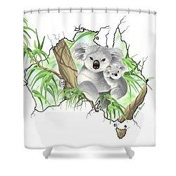Australia Shower Curtain by Veronica Minozzi