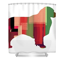 Australian Sheppard Shower Curtain by Naxart Studio