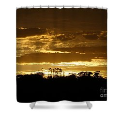 Australian Sunrise Shower Curtain by Bev Conover