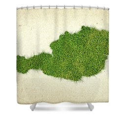 Austria Grass Map Shower Curtain by Aged Pixel