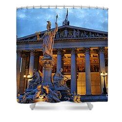 Austrian Parliament Building Shower Curtain by Mariola Bitner