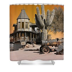 Authentic Ghost Town Shower Curtain by Beverly Guilliams