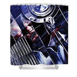 Auto Headlight 103 Shower Curtain by Sarah Loft