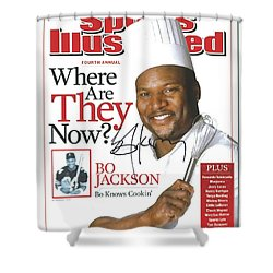 Autographed Sports Illustrated Cover By Bo Jackson Bo Knows Cookin' Shower Curtain by Desiderata Gallery
