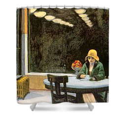 Automat Shower Curtain by Edward Hopper