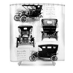 Automobile Advertisement Shower Curtain by Granger