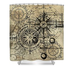 Autowheel IIi Shower Curtain by James Christopher Hill