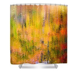 Autumn Abstract Shower Curtain by Eleanor Abramson