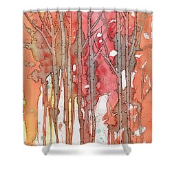 Autumn Abstract No.1 Shower Curtain