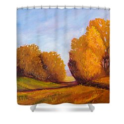 Autumn Afternoon Shower Curtain by Nancy Merkle