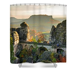 Autumn Afternoon On The Bastei Bridge Shower Curtain