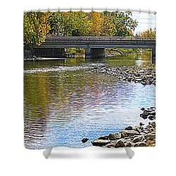 Autumn Along The Fox River Shower Curtain