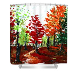Autumn Shower Curtain by Anastasiya Malakhova