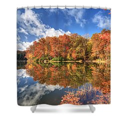 Autumn At Boley Lake Shower Curtain by Jaki Miller