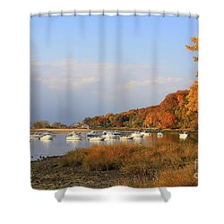 Autumn At Cold Spring Harbor Shower Curtain