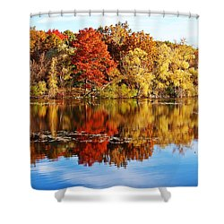 Autumn At Horn Pond Shower Curtain
